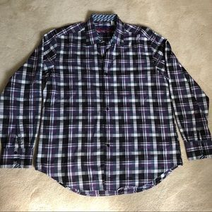 Robert Graham purple plaid shirt